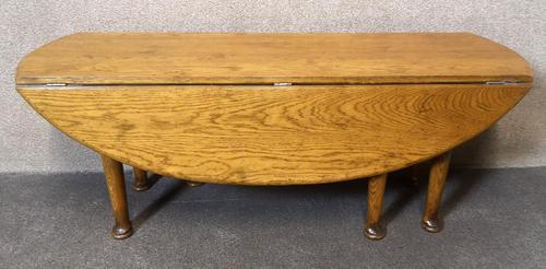 Solid Oak Gateleg Coffee Table / Drop Leaf Coffee Table (1 of 7)