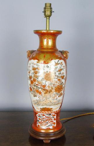 Antique Japanese Kutani Vase Meiji Lamp (1 of 10)