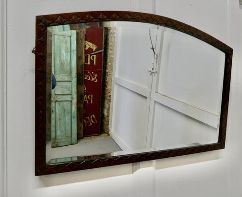 Carved Oak Arched Frame Mirror (1 of 4)