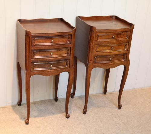 Pair of French Oak Bedside Cabinets (1 of 9)