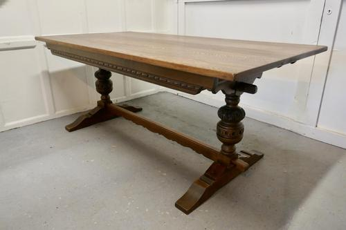 Victorian Oak Refectory Table (1 of 7)