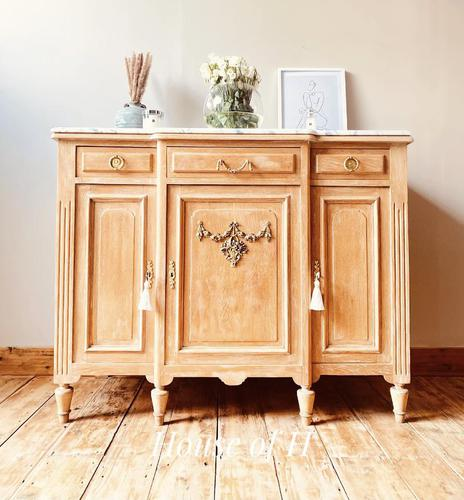 Large French Sideboard / Vintage Marble Sideboard / Buffet (1 of 7)