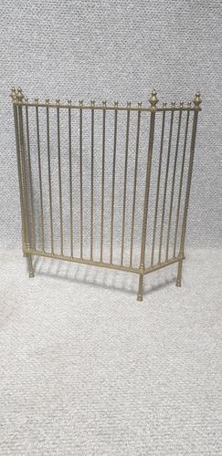 Victorian Brass Adjustable Fireguard (1 of 4)