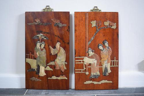 Early 20th Century Chinese Soapstone Panels (1 of 10)