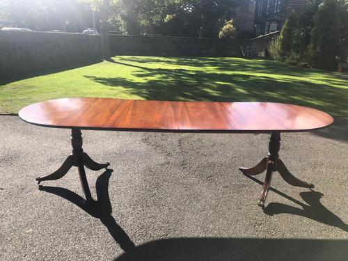 Quality Mahogany Twill Pillar Extending Dining Table (1 of 15)