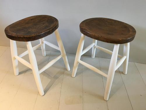 Pair of Oval Top Stools (1 of 3)