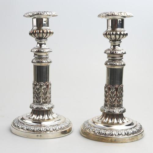 Mathew Boulton - Old Sheffield Silver Plate / Fused Plate Telescopic Candlesticks c.1800 (1 of 8)