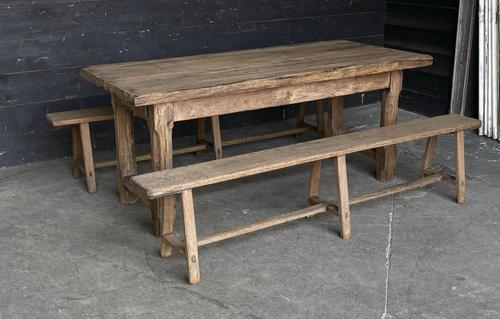 Normandy Oak Farmhouse Table & Bench Set (1 of 19)
