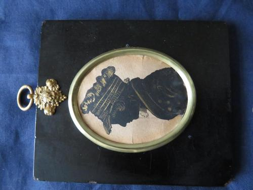 Victorian Silhouette Boy in Ebonised Frame (1 of 5)