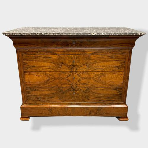 Figured Walnut & Marble Top Commode (1 of 16)
