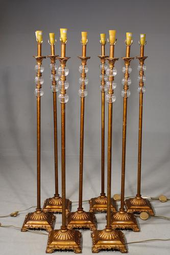 Highly Unusual Set of 8 French Floor Standing Candelabras (1 of 5)