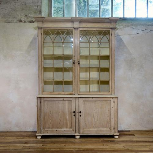 19th Century Gothic Bleached Pine Cabinet - Bookcase (1 of 15)