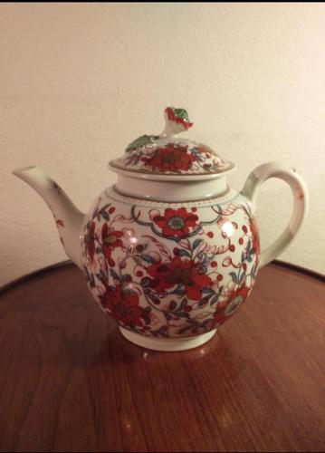 First Period Dr Wall Worcester Teapot (1 of 9)