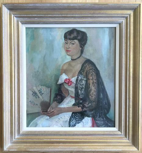 Original Oil on Canvas Laid on Board 'The Japanese Fan' by Toby Horne Shepherd (1 of 2)