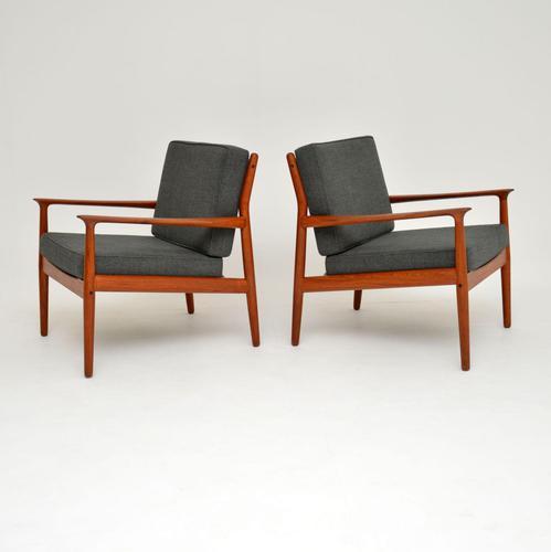 Pair of Danish Teak Vintage Armchairs by Grete Jalk (1 of 11)