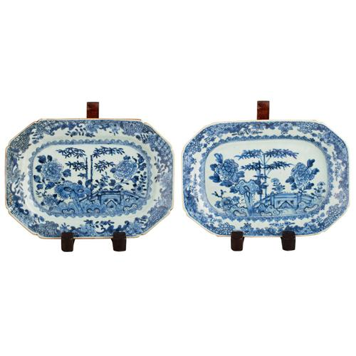 Pair of 18th Century Qianlong Dishes (1 of 8)