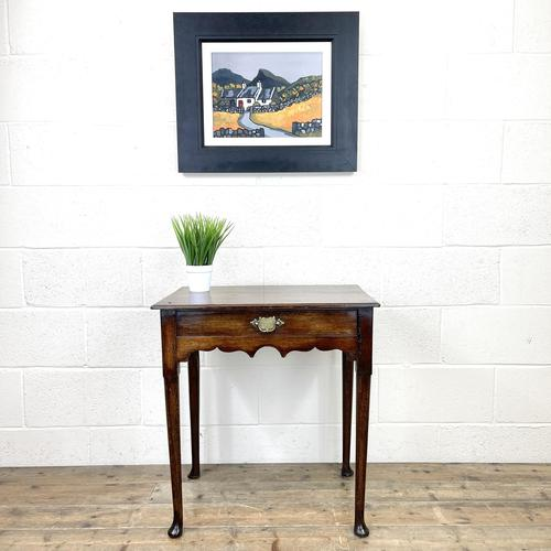 Small 18th Century Antique Oak Side Table (1 of 10)