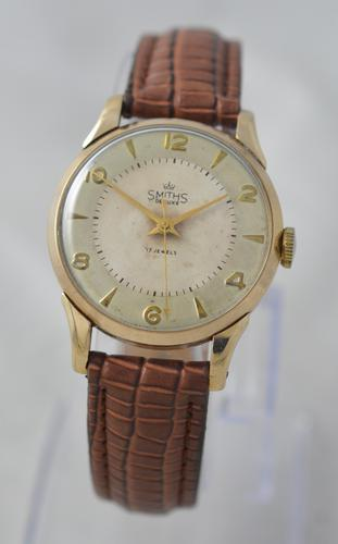 1955 9K Smiths De Luxe Wristwatch with Box (1 of 6)