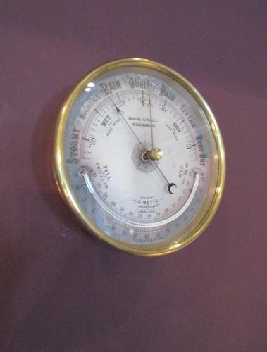 Victorian Aberdeen Marine Barometer & Thermometer (1 of 6)