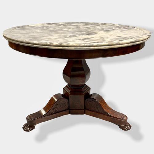 French Empire Marble Top Gueridon Centre Table (1 of 9)