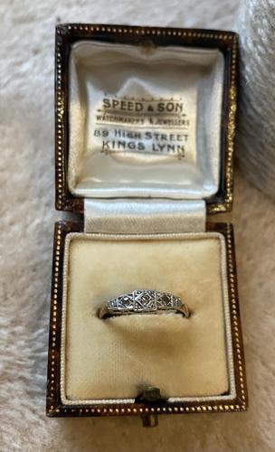 9ct. And Platinum 3 Stone Diamond Ring (1 of 4)
