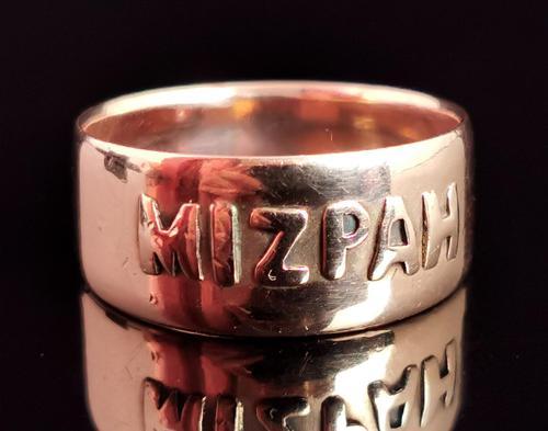 Antique Victorian Mizpah Ring, 9ct Rose Gold (1 of 11)