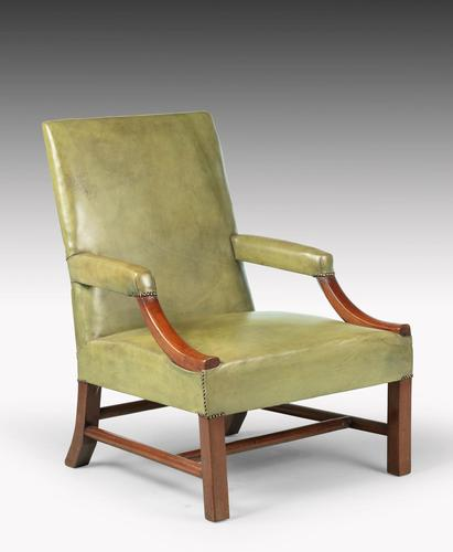 Substantial Early 20th Century Mahogany Framed Gainsborough Chair (1 of 5)
