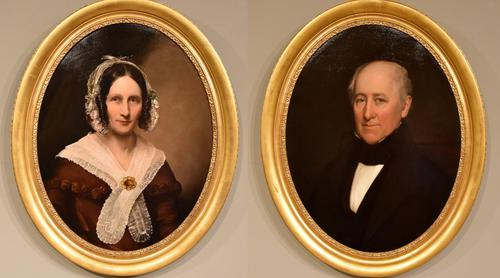 """Oil Painting by English School """"Portraits of a Lady & Gentleman"""" (1 of 8)"""