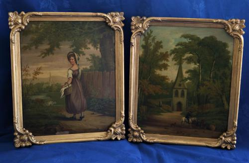 Fine Pair of 18th Century Paintings by J Hill (1 of 9)