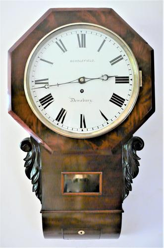 Exceptionally Fine 1845 English Drop Dial Fusee Wall Timepiece by Francis Scholefield (1 of 11)