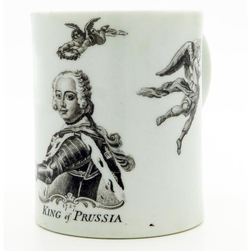 Worcester Porcelain Royal Commemorative Frederick II Tankard 18th Century / Early 19th Century (1 of 10)