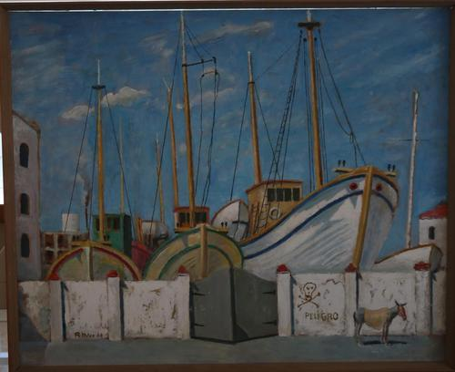Boats in dry dock by Rudolph Ihlee (1 of 7)