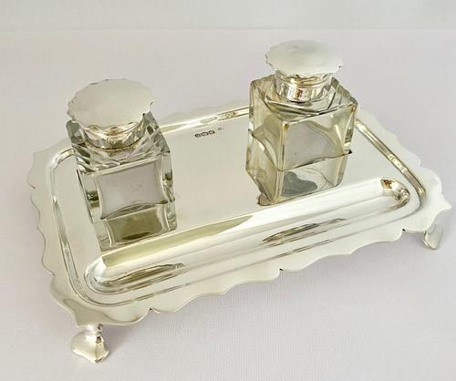 Sterling Silver Pen & Ink Stand Inkwell (1 of 8)