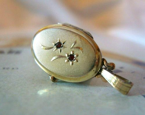 Vintage Pocket Watch Chain Photograph Fob 1950s 14ct Rolled Gold Daisy Fob (1 of 11)