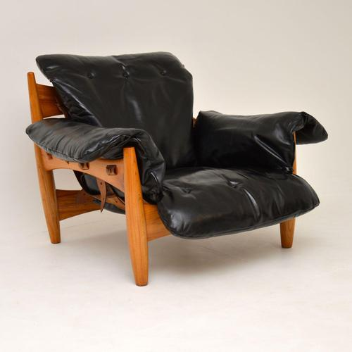 "Vintage ""Sheriff"" Leather Armchair by Sergio Rodrigues for ISA (1 of 12)"