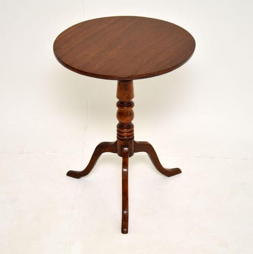 Antique Georgian Mahogany  Tilt Top Tripod Table (1 of 7)