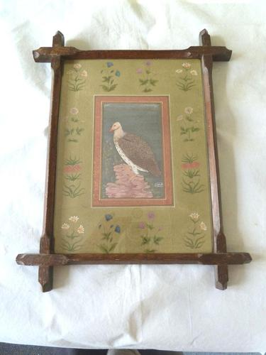 Fine Qajar / Indian School Painting of a Vulture- Signed. (1 of 4)