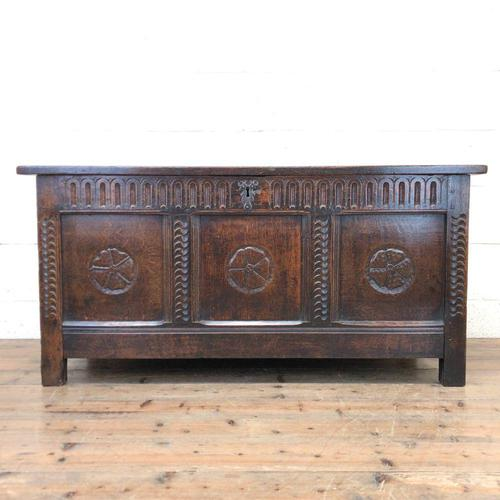 18th Century Carved Oak Blanket Box (1 of 11)