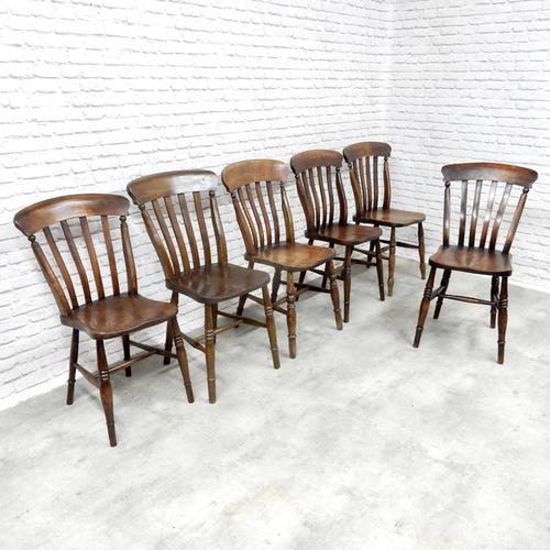 Harlequin Set of 6 Windsor Kitchen Chairs (1 of 5)