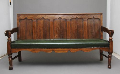 18th Century oak and fruitwood settle (1 of 11)