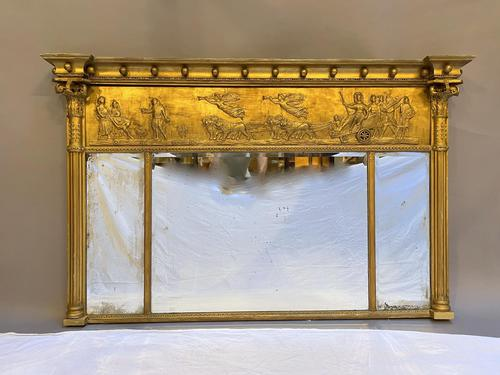 19th Century Large Gilt Overmantle Mirror (1 of 16)