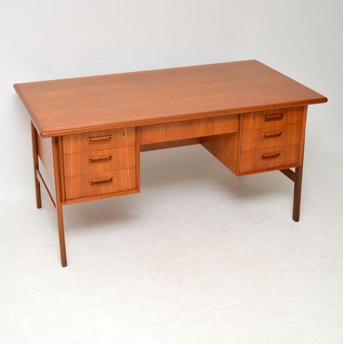 1960's Vintage Danish Teak Desk by Tibergaard (1 of 12)