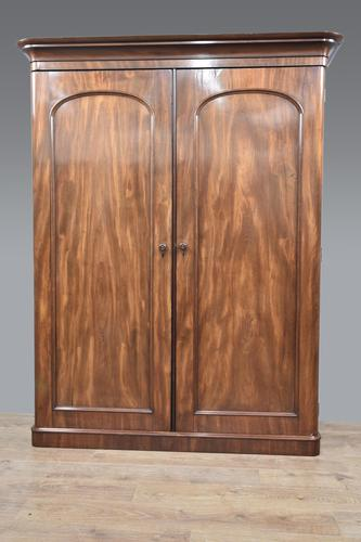 Victorian mahogany double wardrobe (1 of 4)