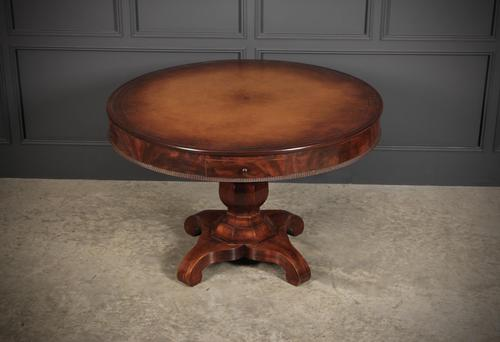 Mahogany Biedermeier Drum Centre Table (1 of 10)