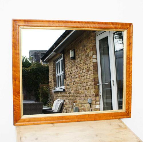Victorian Birds Eye Maple Overmantle Mirror (1 of 8)