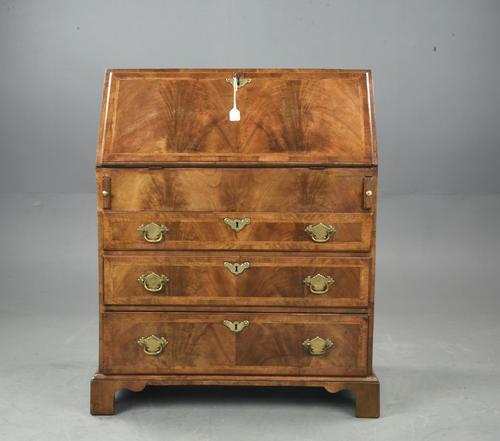 Antique Rare Small Georgian Walnut Bureau (1 of 10)