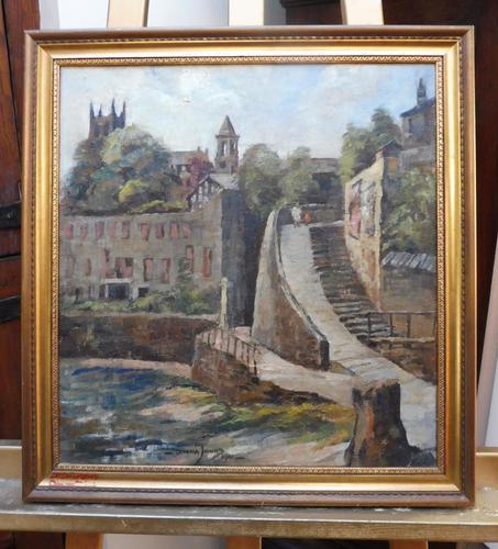 Oil on Canvas Cornish Seascape Listed Artist Dora Johns 1966 (1 of 10)