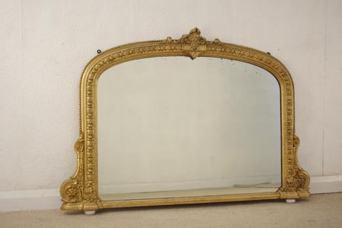 Victorian Gilt Arch Top Overmantle Mirror (1 of 10)