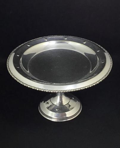 Arts & Crafts Silver Plated Tazza With Planished Bowl Base (1 of 6)