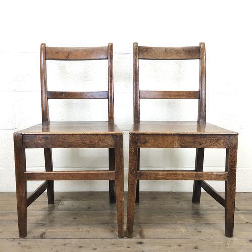 Two Similar 19th Century Oak Bar Back Farmhouse Chairs (1 of 10)